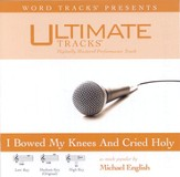 I Bowed On My Knees And Cried Holy - Low key performance track w/ background vocals [Music Download]