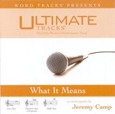 What It Means - High key performance track w/ background vocals [Music Download]