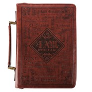 Names of God Bible Cover, Brown Lux Leather, Medium