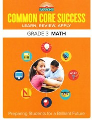 Barron's Common Core Success: Math, Grade 3