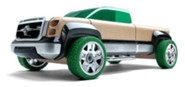 T900 Beech Wood Pick Up Truck Kit with Green Tires