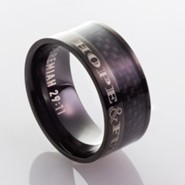 Hope & Future, Men's Stainless Steel Ring, Size 10