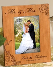 Personalized, Mr and Mrs 5x7 Photo