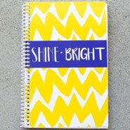 Shine Bright Chevron Journal, Yellow
