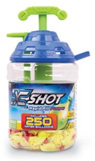 X-Shot Rapid Fill Water Balloon Pumper, with 250 Balloons