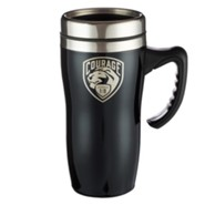 Courage, Stainless Steel Travel Mug, Black