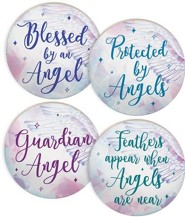 Guardian Angel Car Coasters, Set of 4