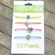 Friends in Faith Stretch Bracelets, 4 Pack