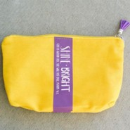 Shine Bright Zipper Bag with Tassel, Yellow