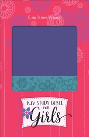 KJV Study Bible for Girls Grape/Surf Blue Floral Design Duravella