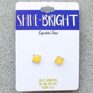 Shine Bright Earrings, Yellow