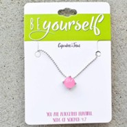 Be Yourself Stone Necklace, Pink