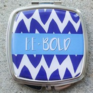 Be Bold Chevron Compact Mirror, Blue