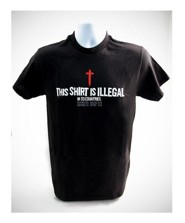 This Shirt is Illegal, Shirt, Black, 4X Large