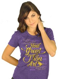 How Great Thou Art Shirt, Heather Purple,  Small