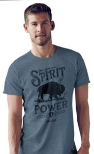 Spirit of Power Shirt, Heather Blue,   XX-Large