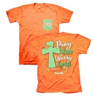 Pray More Worry Less Shirt, Coral,  Small