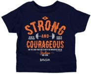 Strong And Courageous Shirt, Navy,  4T