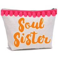 Soul Sister Canvas Everything Bag with Pom Poms