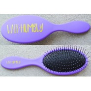 Walk Humbly Hairbrush, Purple
