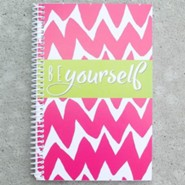 Be Yourself Chevron Journal, Pink