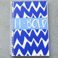 Be Bold Chevron Journal, Blue