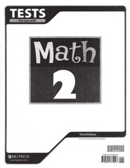BJU Math Grade 2 Tests, Third Edition