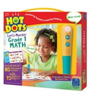 Hot Dots Junior, Let's Master Grade 1 Math
