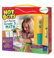 Hot Dots Junior, Let's Master Grade 3 Math