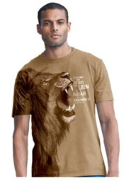 Lion Of Judah, Shirt, Tan, Large