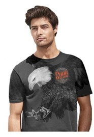 Soar On Wings, Eagle Shirt, Gray, XXX-Large