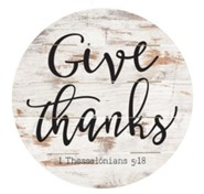 Give Thanks, Barrel Top Decor