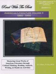 Read with the Best American Literature, Volume 2 (1860-1950) Teacher's Edition