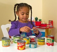 Grocery Cans, Play Food, 10 Pieces