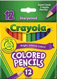 Colored Pencils, Short, Pack of 12