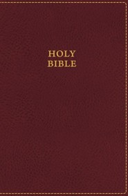 KJV UltraSlim Bible--soft leather-look, burgundy (indexed)
