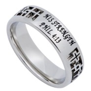 His Strength, Mirage Ring, Size 7