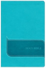 NIV Understand the Faith Study Bible--soft leather-look, turquoise (indexed)