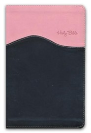 NIV Gift Bible--imitation leather, pink/brown (indexed)