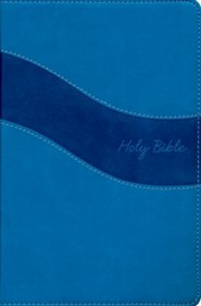 NIV Gift Bible--imitation leather, blue (indexed)