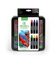 Crayola, Oil Pastels with Tin, 24 Pieces