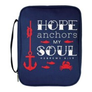 Hope Anchors My Soul Bible Cover, Large