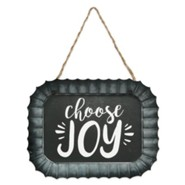 Choose Joy Fluted Tin Sign
