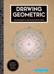 Drawing Geometric: Tools and  Inspirations to Create Amazing Geometric Drawings (Includes: Sketchbook, Geometric Stencils, & More)