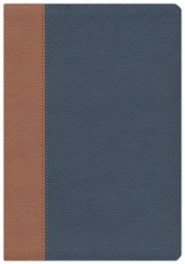 Imitation Leather Blue / Tan Book
