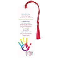 Daddy, Hands That Play, Hands That Pray Tassel Bookmark