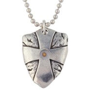Pewter Pendant - Mustard Seed Shield