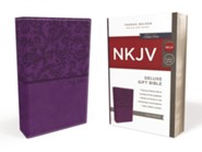 NKJV Deluxe Gift Bible, Purple
