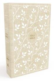 NKJV Thinline Bible, White and Tan , Hardcover