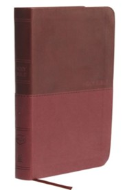NKJV Value Compact Thinline Bible, Imitation Leather, Burgundy